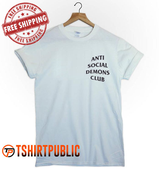 Anti Social Demons Club T Shirt