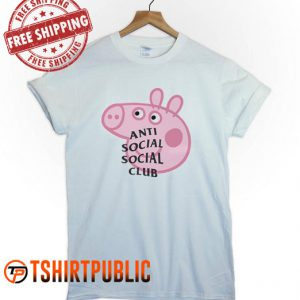 Anti Social Social Club Collab Peppa Pig T Shirt