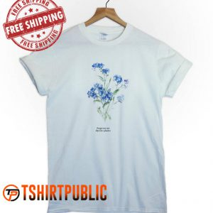 Forget Me Not Floral T Shirt