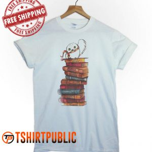 Harry Potter Owl And Books T Shirt