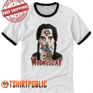 Gothic love Satanic Wednesday Ringer T-Shirt
