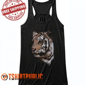 Tiger Face Tank Top Free Shipping