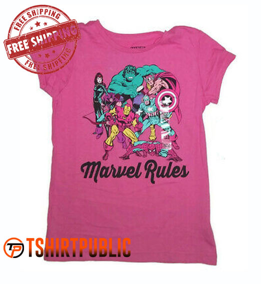 Marvel Rules T Shirt Free Shipping